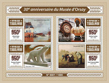 Togo 2016 MNH Orsay Museum Musee d'Orsay 4v M/S Sisley Cordier Pompon Stamps