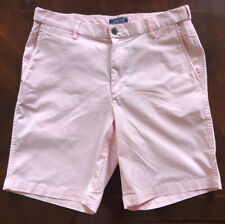 LANDS END MEN'S PINK TRADITIONAL FIT CHINO SHORTS SIZE 33