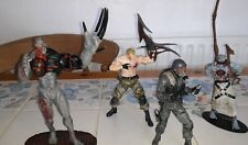4 Resident Evil action figures. job lot. in good condition.