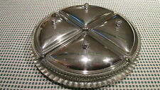Vintage Relish Tray 4 Glass Dishes w/ Aluminum Lids and Tray