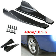 2pcs 48cm Car Bumper Spoiler Rear Lip Angle Splitter Anti-crash Side Skirt Wings