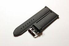 Silikon Uhrenarmband Armband Silicon Rubber Watch Strap schwarz 24mm Uhrband Neu