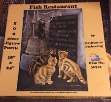 SunsOut 500 Piece Puzzle Called Fish Restaurant By Pollyanna Pickering