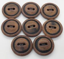 """Sleeve Button Italy LOT 8 24L 15.2mm 5/8"""" Vintage Real Buffalo Horn Trouser Suit"""