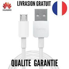 Cable micro usb blanc 1 mètre chargeur rapide pour Huawei P8 Lite, P9 Lite 2017