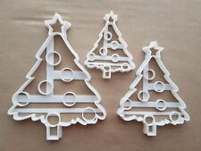 Christmas Tree Bauble Decorate Shape Cookie Cutter Dough Biscuit Fondant Sharp