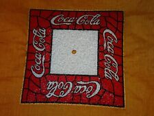 1970's Vintage Coca Cola 14 x 14 Square Glass Flush Mount Ceiling Light Fixture