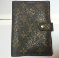 4b8010cd5c9 Authentic Gucci Black canvas bamboo zip around Agenda Notebook Cover ...