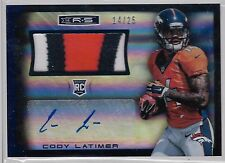 2014 R&S Cody Latimer Auto 3 Color 5 Break Jersey Rc # 14/25 JERSEY # A 1 of 1