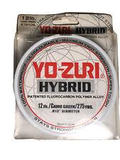 Yo-Zuri Hybrid Fluorocarbon Fishing Line 12 lb 275yd Camo Green Ultra Durable