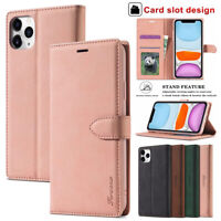 Fr iPhone 12 Pro Max 11 Xs Xr 8 7 6 Plus Case Magnetic Leather Wallet Flip Cover