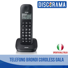 CORDLESS TELEFONO BRONDI GALA VIVAVOCE TASTI GRANDI 50M