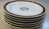SET OF 6   NITTO  DYNASTY R 73    DINNER  PLATES 10 3/4 inch      PERFECT COND.