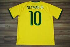 #10 NEYMAR XL BRASIL NATIONAL TEAM 2014/2016 HOME FOOTBALL SHIRT JERSEY CAMISETA