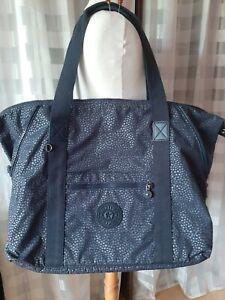 KIPLING ART M dunkelblau Dots Reisetasche Shopper Tasche Trolleytasche 58 cm