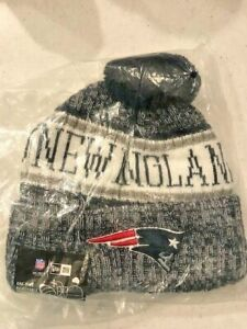 New England Patriots Beanie New Era NFL Pom Knit Sport Fleece-lined unisex new