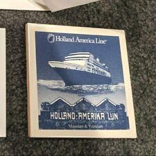 Holland America Line New Delft Ceramic Tile Coaster Maasdam & Veendam