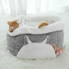 Pet Dog Cat House Bed Sofa Tent Cushion Mat Sleeping Bag Kitty Puppy Grey S,M
