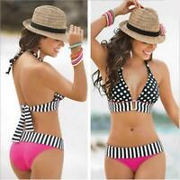 Plus size Swimsuits Polka Dot Bikinis High Waist Swimwear