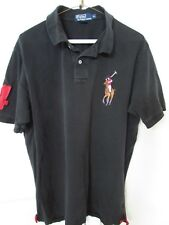Polo Ralph Lauren Big Colorful Horse Logo Polo Shirt Mens XL Black