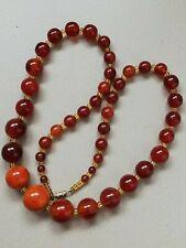 collier ancien en perles d'ambre
