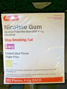 100 Rugby Sugar Free Nicotine Polacrilex Gum 4 MG MINT FLAVOR NIB Sealed ex:5/23