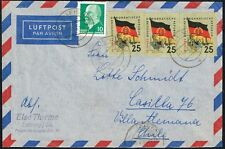 839 GERMANY TO CHILE DDR AIR MAIL COVER 1962 LEISNIG - VILLA ALEMANA