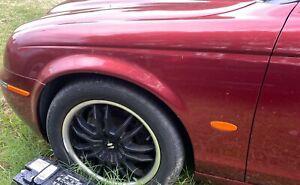 00-08 JAGUAR S-TYPE DRIVER LEFT LH SIDE FENDER RED OEM