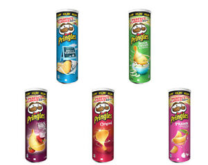 Pringles assorted Flavour Crisps Snack Can - Pack of 6 x 200g (£2.99 PM)