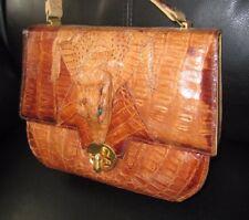 Antique Genuine Alligator Handbag Purse