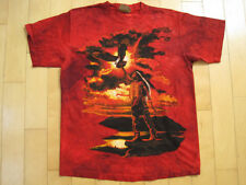 INCREDIBLE!! 90s vtg THE MOUNTAIN brand NATIVE RED T SHIRT bird 1996 LARGE