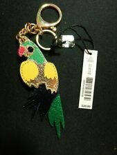 "Kate Landry Leather ""Parrot"" Keychain Key Fob Bag Charm New With Tags"