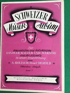 SCHWEIZER MUSIK-ALBUM Band 7 Ländler Walzer und Märsche für Akkordeon