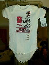 Dr. Seuss College Kids 18 Months Browns University Onsie