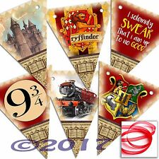 Harry Potter SMALL Bunting 12 Flags Party/Room Decoration Card PRINTED Banner 2M