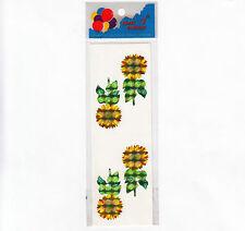 Rare Vintage Great Seven Prism Sunflower Sticker Package - 2 Flower Modules