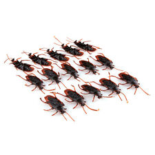10Pcs/Set Halloween Fake Plastic Cockroaches Rubber Toy Joke Decoration Props 0H