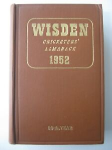 1952 WISDEN CRICKETERS' ALMANACK - Hardback Edition