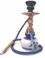 Hookah Shisha Smoke Glass Smoking Water Tobacco Set Bong Vase: white with plant