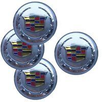 4X 65mm 2.55'' Silver Cadillac Emblem Aluminum Car Wheel Center Hub Cap Sticker