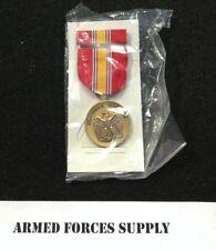 Military Us National Defense Service Medal & Ribbon Bar Set Uniform Regulation