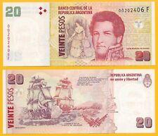 Argentina 20 Pesos p-355 ND (2003) (Suffix F) UNC Banknote