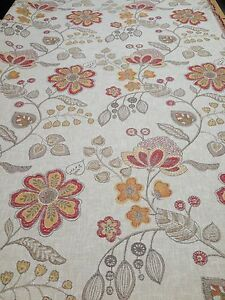 HARTWELL Furnishing Fabric in TERRACOTTA - 2370MM - 76% Polyester 24% Linen