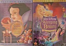 Disneys: Sleeping Beauty & Snow White DVDs (Brand New /...