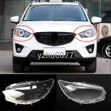 2013-2015 For Mazda CX-5 Left and Right Headlight Headlamp Lens Cover 2pcs
