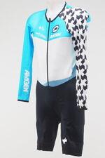 New! Assos Tour of California LS Men's Skinsuit Blue Most Courageous Leader XL