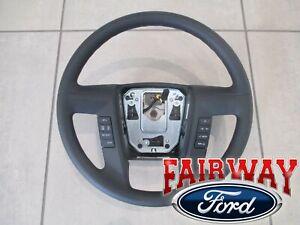 11 thru 14 F-150 OEM Ford Urethane Steering Wheel w/ Switches Cruise & Sync NEW