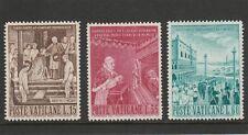 VATICAN CITY - 1960  - 1ST ANNIV. OF TRANSFER OF RELICS - SET (3V) - MNH