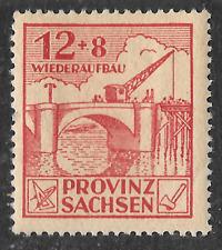 Zona soviética-provincia Sajonia de Alemania - 1945-1946 puente grúa como escaneo Rojo 12+8