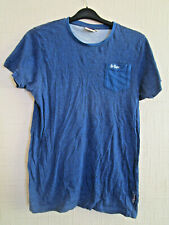 mens blue lee cooper t-shirt size small
